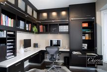 Home Office/Libraries / The key to designing cabinetry is to create storage to fit the home owners needs. Think about what type of storage you will need in you office.