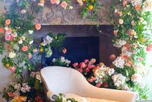Mantels + Hearths / Floral installations we've done and ones that really inspire us.