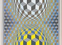 Victor Vasarely (Hungarian -French artist,1906-1997)