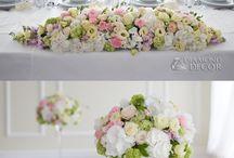dekoracje kwiatowe sali weselnej