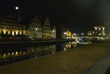 Gent Belgio notturni