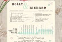 Wedding Design / Graphic design collaboration for wedding stationary / by Amethyst Marie