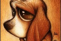 nakreslený pes