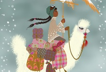 Beautiful ilustration - magical wintertime