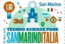 Cod. 626 - Emissione congiunta: Parco Scientifico e Tecnologico, San Marino - Italia / Emissione filatelica 23 ottobre 2015 - 2alori da €1.60 e €2.50 - Fogli da 20 - Tiratura 40.200