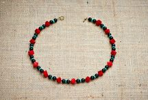 Handcrafted Necklaces / Unique handcrafted necklaces made with glass and semi precious stones.
