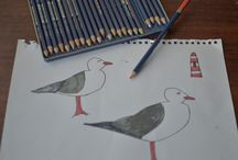 We LOVE seagulls / The story of Grinling the wee fellow that pops up all over muka kids designs.