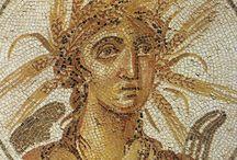 Римская мозаика. Портрет.