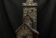 Stones and Stick Birdhouses / Stone birdhouses and stick birdhouses. Birdhouses created out of stones or sticks.