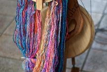 handspun yarn and majacraft wheel