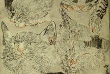 日本画 動物
