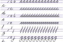 Ejercicios cursiva