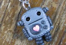 Cute:  Robot charms