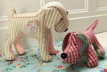 Textile toys ang decor