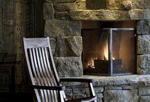 Fireplaces and Wood Stoves / warmth and beauty / by Laura Jeanne Sturman