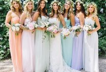 Pastel Bridesmaids Dresses / A collection of the most unique bridesmaid's dresses. Pastel bridesmaids dresses fill this collection.