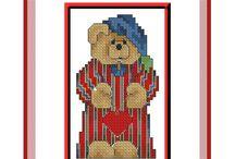 beren borduur patronen / borduren