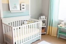 Nursery Mint + Yellow + Gray / Decor inspiration for a little boy's nursery in mint green, yellow, and gray