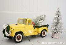 Новогодний грузовичок (картинки)