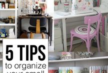 Craft Room Organization / Having a creative space to work and create is so much fun! Browse this board for ideas on how to store fabric, notions, patterns, and more! Get ideas for making your craft room not only functional but also a reflection of your personality and style!