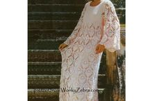 vintage wedding crochet and knitting / vintage patterns for making crochet and knitted wedding dresses, bridesmaids dresses and wedding robes