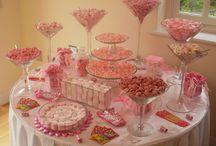 Wedding sweet tables