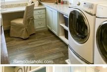 Desk and laundry room