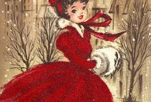"""Cartes/Illustrations vintage Christmas/Nouvel An / """"Croyez-vous en un endroit appelé """"christmasland"""" ? Que feriez-vous pour vivre dans un endroit où c'est noël tous les matins ? Ne renoncez pas à la magie, ne renoncez pas à vos rêves."""" Joe Hill"""