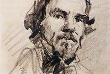 Cezanne portreit de Delacroix