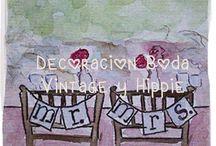 Decoración Bodas Hippie y Vintage / Ideas e inspiración para decorar tu celebración vintage y hippie.