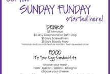 Sunday Funday! / Costumers asked and we listened! Join us for some fun $5 cocktails featuring Natalie's fresh squeezed lemonade and Chef Mario's awesome egg sandwiches and corned beef hash!