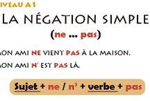 Vive le français la négation / FLE grammaire