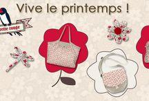 COLLECTION PRINTEMPS 2015 / La fleurette rouge est à l'honneur ! Sortons de l'hiver avec bonheur, Avec ce coloris plein de douceur Qui vous donnera bonne humeur :-)