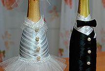 Бутылки шампанского на садьбу