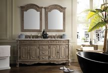 Riviera + Venetian Old World Collection / The beauty of the Riviera collection will transform your bathroom space to a new level. This collection boasts elegance and class. From the gorgeous trim to the claw feet, each inch of this vanity is infused with flawless detail.   The Venetian collection offers ornate detailing and trim. With wrought iron accents on the doors and matching wrought iron hardware, this piece is lavish in detail that make your bathroom space feel elegant and timeless.