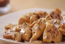 poulet a la moutarde et sauce champignons