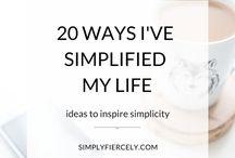 Living simply