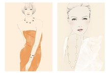 .fashion sketches / by Michelle Yam
