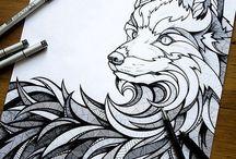 wolf zeichnung