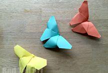 Papieren vlinders