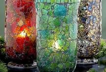 witraże, mozaika