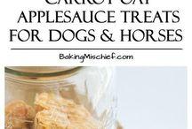 carrot oat applesauce dog treats