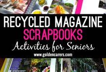 Recycled  Magazine  Scrapbooks
