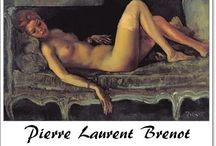 """⊱ Pierre Laurent Brenot ⊰   / ≻ Pierre Laurent Brenot ~ Paris, 8 July 1913 - 8 May 1998, Loches ≺ Pierre-Laurent Brenot  was a French painter who also had a great activity in fashion and advertising. He is also known as the father of the """"French pin-up"""". First stylist to the biggest Parisian brands:Fashionnable, Dior, Balmain, Nina Ricci, Lanvin, St. Lawrence ..."""