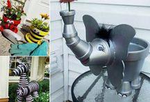 Garden pot people.