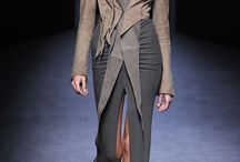 Inspiring Fashion - Haider Ackermann / These clothes are all about structural tailoring, textures created from exquisite natural textiles and superb colour combinations. He builds contoured layers which seem to fall effortlessly and yet are extremely contrived in the cutting. Little or no pattern is displayed but the attention to the smallest detail is sublime.