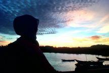 Senja BOJES / Senja ini di ambil di pantai daerah PARIGI - Bojong Salawe