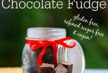 vegan chocolate/peppermint fudge