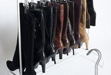 Shoe storage & cupboard organising