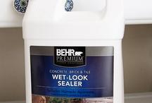 cement wet look